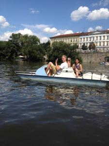 We got pedal boats on our last day and soaked up the sheer awesomeness of Prague