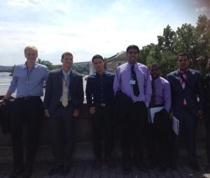 A couple of the guys and I on Charles Bridge, enjoying the sunshine.