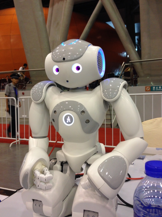 Meet Doyle, one of our three NAOs. NAO is produced by Aldebaran
