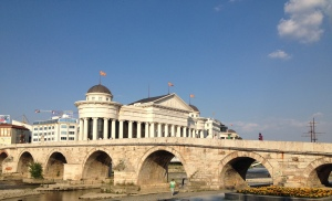 My first day in Macedonia was spent exploring the beautiful capital city of Skopje. Pictured is the stone bridge, in front of the national archaeological museum. Other nearby attractions I saw included the Alexander the great (warrior on a horse) statue in Macedonia square, the Skopje fortress and the old bazaar.