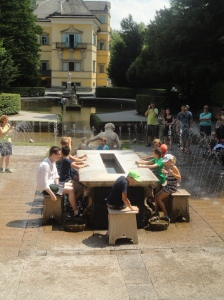 Cooling down at Hellbrunn