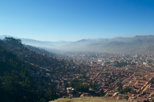 Cusco hums with traffic and church-fireworks