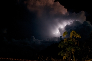 Lightning storms were a daily occurrence as we descended lower into the jungle