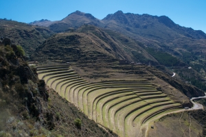 Incan architecture is on a grand scale.