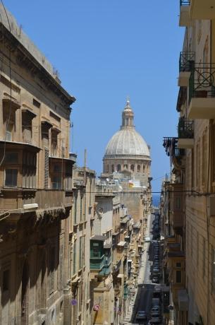 The unique streets of Valletta