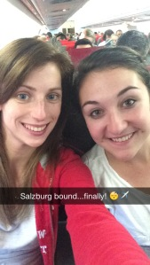 After a full day of travelling, we were finally on our flight to Salzburg!