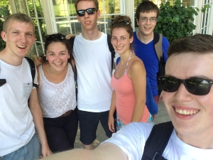 Enjoying Salzburg with new friends made on the trip
