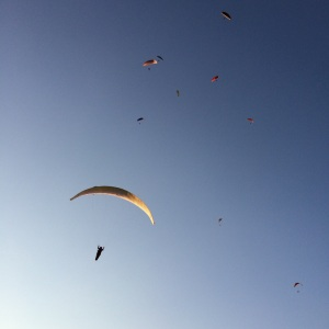 An evening off to go paragliding