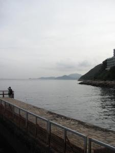 Small pier to the side of Repulse Bay Beach