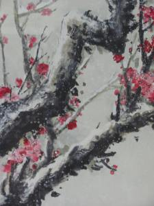 Plum blossoms, seen at the HK Museum of Art