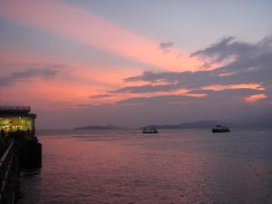 Ferries coming and going from Lamma Island to HK Island