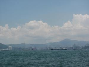 View from Kennedy Town port, a few mins from where I lived, across the water to Kowloon