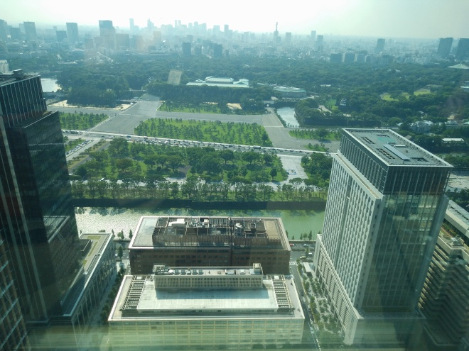 View from a law firm imperial palace toward the back